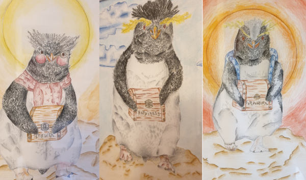 Draft penguin illustrations