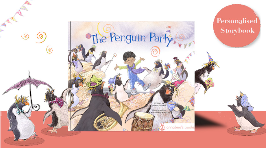 book cover and penguins